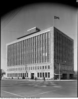 Historic photo from Sunday, April 20, 1958 - TTC head office - The McBrien Building in Chaplin Estates