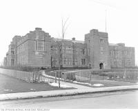 Historic photo from 1920 - Gothic style Bishop Strachan School designed by Henry Sproatt and opened in 1915 in Forest Hill
