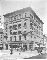 Historic photo from 1930 - Lollar Building, Queen City Oil Co. - Grand Trunk Railway sign still visible (King and Yonge) in Downtown