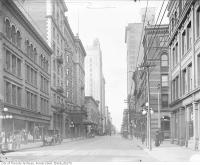 Historic photo from 1910 - King Street, looking west from the John Catto and Son store before it was demolished for King Eddy expansion in St. Lawrence