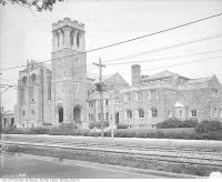 Historic photo from 1920 - East side of the Eaton Memorial Church, St. Clair Avenue West in Forest Hill