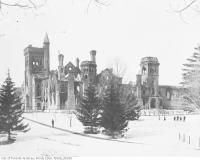 Historic photo from Friday, February 14, 1890 - University College after the fire of February 14, 1890 - during Conversazione Ball preparation in University of Toronto (U of T)