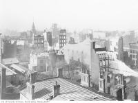 Historic photo from Friday, April 22, 1904 - Aftermath of the 1904 fire:  view from the Queens Hotel on Front Street in Great Toronto fire of 1904