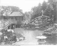Historic photo from 1900 - Garden at Shadow Brook, home of Senator Cassels : Finch Avenue near Bathurst Street in North York