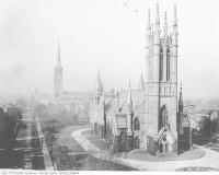 Historic photo from 1920 - Metropolitan Church (Queen Street, before the 1928 fire) in Garden District