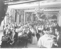 Historic photo from 1907 - King Edward Hotel interior Victoria Dinning Room? - complimentary dinner tendered by Sir John Eaton in St. Lawrence