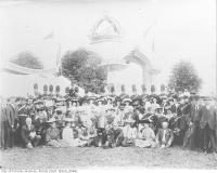 Historic photo from 1906 - Independant Order of Foresters at the CNE in front of Arch in CNE