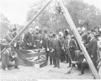 Historic photo from 1908 - Laying the cornerstone of the South African War Memorial in University Avenue