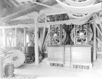 Historic photo from Tuesday, November 12, 1918 - Ground floor mill showing machinery for driving millstones and rolls in Distillery District