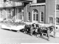 Historic photo from Monday, November 11, 1918 - In Flanders Field - parade float  - Victory Loan Parade, November 11th, 1918 in Distillery District