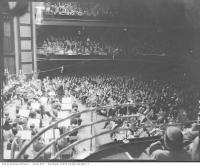 Historic photo from Monday, November 19, 1956 - Massey Hall Audience - Toronto on Sunday -  commissioned by Time Incorporated in Garden District