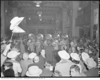 Historic photo from Saturday, November 24, 1956 - Royal York Hotel hosts 1956 Grey Cup crowds in Toronto in Financial District