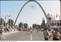 Historic photo from 1990 - Exhibition Place Dufferin Gate looking south in CNE