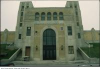 Historic photo from 1985 - Art Deco entrance to the R.C. Harris Plant along Lake Ontario in Fallingbrook