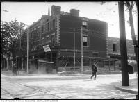 Historic photo from Wednesday, May 7, 1913 - Construction on the south west corner of Church and Dundas (then Wilton Ave) in Garden District