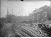 Historic photo from Saturday, October 17, 1914 - Scaffolding around the construction of the High level pumping station in Republic of Rathnelly