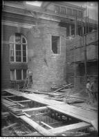 Historic photo from Saturday, October 24, 1914 - Building the chimney and new wing of the Toronto High level pumping station in Republic of Rathnelly