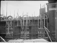 Historic photo from Saturday, October 31, 1914 - Building the rounded windows of the High level pumpng station in Republic of Rathnelly