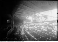Historic photo from Monday, May 10, 1915 - Princess Theatre ruins after May 1915 fire - upper balcony roof collapse in Downtown