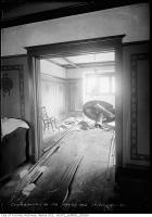 Historic photo from Thursday, May 20, 1915 - Aftermath of boiler explosion at 14 Wells Hill Road - interior in Casa Loma