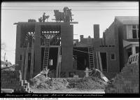 Historic photo from Thursday, April 4, 1918 - Laying bricks on the southeast corner Browning and Jackman in The Danforth