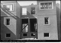 Historic photo from Thursday, April 4, 1918 - Duplex being built - no windows yet at the back - southeast corner Browning and Jackman in The Danforth