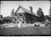 Historic photo from Wednesday, May 26, 1920 - Rear view of the construction of the Danforth Avenue lavatory in The Danforth