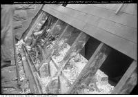 Historic photo from Tuesday, March 1, 1921 - Old City Hall roof rafters, Terauley Street in City Hall