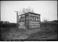 Historic photo from Wednesday, November 15, 1922 - Grimshaw Bros buildings - southwest corner Yonge and Manor Road in Chaplin Estates