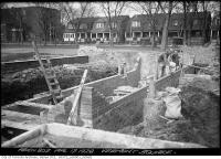 Historic photo from Tuesday, April 17, 1928 - Building the Vermont Square shelter in Seaton Village