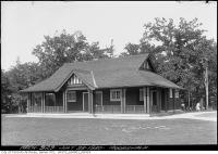 Historic photo from Wednesday, July 23, 1930 - Moorevale Park Shelter with bathrooms in Moore Park