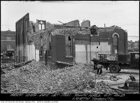 Historic photo from Tuesday, December 1, 1931 - Tearing down the old Library, previously the Town Hall of old North Toronto in North Toronto