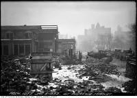 Historic photo from Tuesday, January 5, 1932 - Demolition of St. Andrews Market with city in background in Alexandra Park