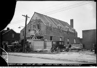 Historic photo from Monday, January 18, 1932 - Montgomery Firehall under construction in North Toronto