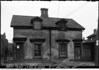 Historic photo from Monday, June 3, 1935 - Condemned house -  9-11 Britian Street  just south of Queen Street East in Moss Park