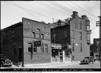 Historic photo from Thursday, October 1, 1936 - Northwest corner of Jarvis and Carlton - Kelody Lunch Soda Fountain and La Salle Taxi in Church-Wellesley Village