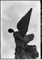 Historic photo from Friday, March 25, 1938 - Goddess of Winged Victory atop main arch in CNE