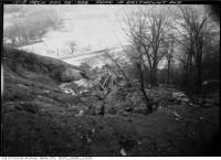 Historic photo from Tuesday, December 26, 1939 - Looking down into the ravine  at the railway tracks behind 10 Eastmount Avenue in Playter Estates