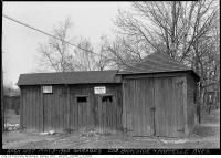 Historic photo from Friday, May 10, 1940 - Garages for rent at the corner of Braeside and Kapelle Avenue in Wanless Park