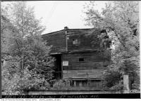Historic photo from Wednesday, May 29, 1940 - Old two storey house with No Trespassing sign in Moore Park