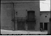 Historic photo from Tuesday, December 30, 1941 - Alhambra Theatre - doors at rear of theatre onto alleyway in Seaton Village