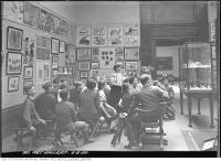 Historic photo from Tuesday, May 5, 1936 - Group of children in a gallery at the AGO in Art Gallery of Ontario