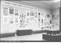 Historic photo from Tuesday, May 16, 1939 - An exhibition of childrens Saturday Morning Class artwork  in Art Gallery of Ontario