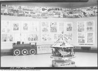 Historic photo from Tuesday, May 16, 1939 - Train Mural in an exhibition of childrens art in Art Gallery of Ontario