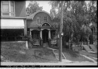 Historic photo from Wednesday, August 10, 1921 - House at 595 Woodbine Avenue next to pharmacy in Upper Beach