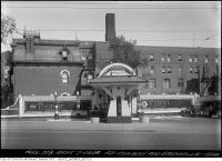 Historic photo from Friday, September 7, 1928 - Imperial Premier gas station on the southeast corner Bay and Grenville - Bay Street Widening in Queens Park