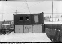 Historic photo from Tuesday, December 10, 1929 - Stable at the rear of 215 Margueretta Street  in Brockton Village