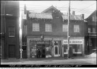 Historic photo from Thursday, January 8, 1931 - M. Wolfe Drugs and Ryckman committee room at 149-151 Dupont Street in The Annex