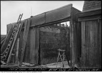 Historic photo from Wednesday, April 6, 1932 - Old garage at the rear of 1025 St. Clarens Avenue in Little Italy (St. Clair)