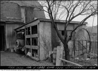 Historic photo from Wednesday, April 6, 1932 - Car and outbuilding at rear of 1025 St. Clarens Avenue in Little Italy (St. Clair)